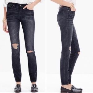 {Madewell} Distressed High Riser Skinny Jeans